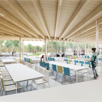 Illustration projet architectural 3D lycée Ploermel_restaurant