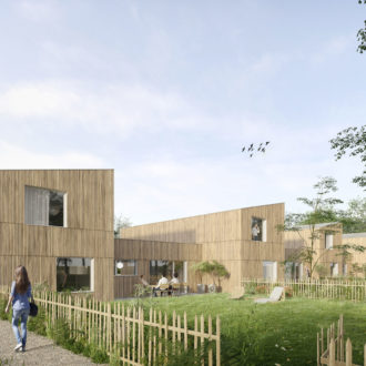 Illustration projet architectural 3D lycée Ploermel_vuelogements
