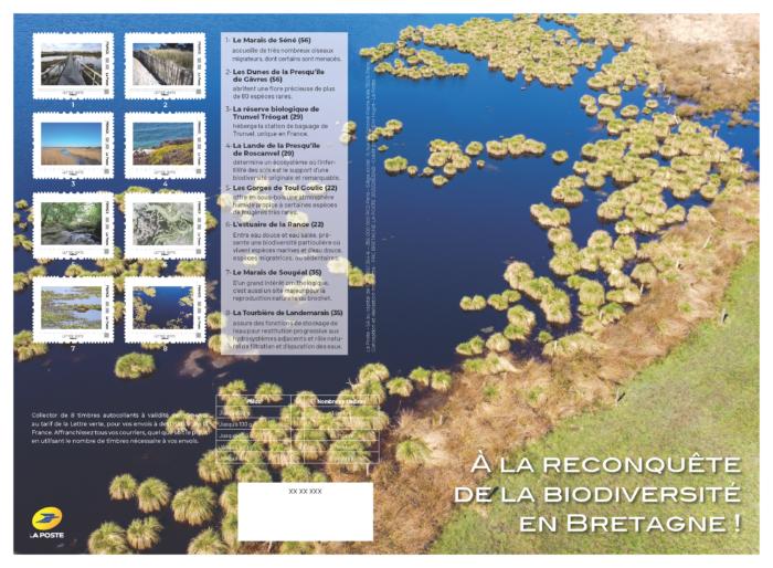 Planche de timbres Breizh Biodiv