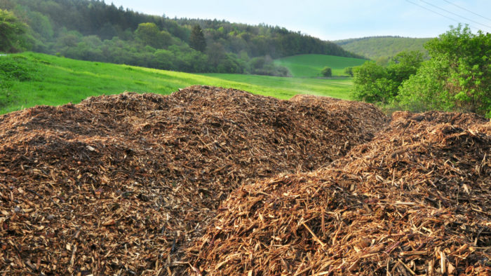 Amas de déchets dans un paysage breton
