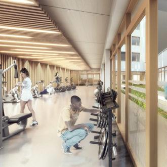 Salle de musculation de la cité scolaire