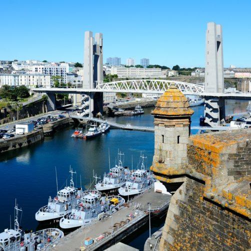 Vue de hauteur de Brest