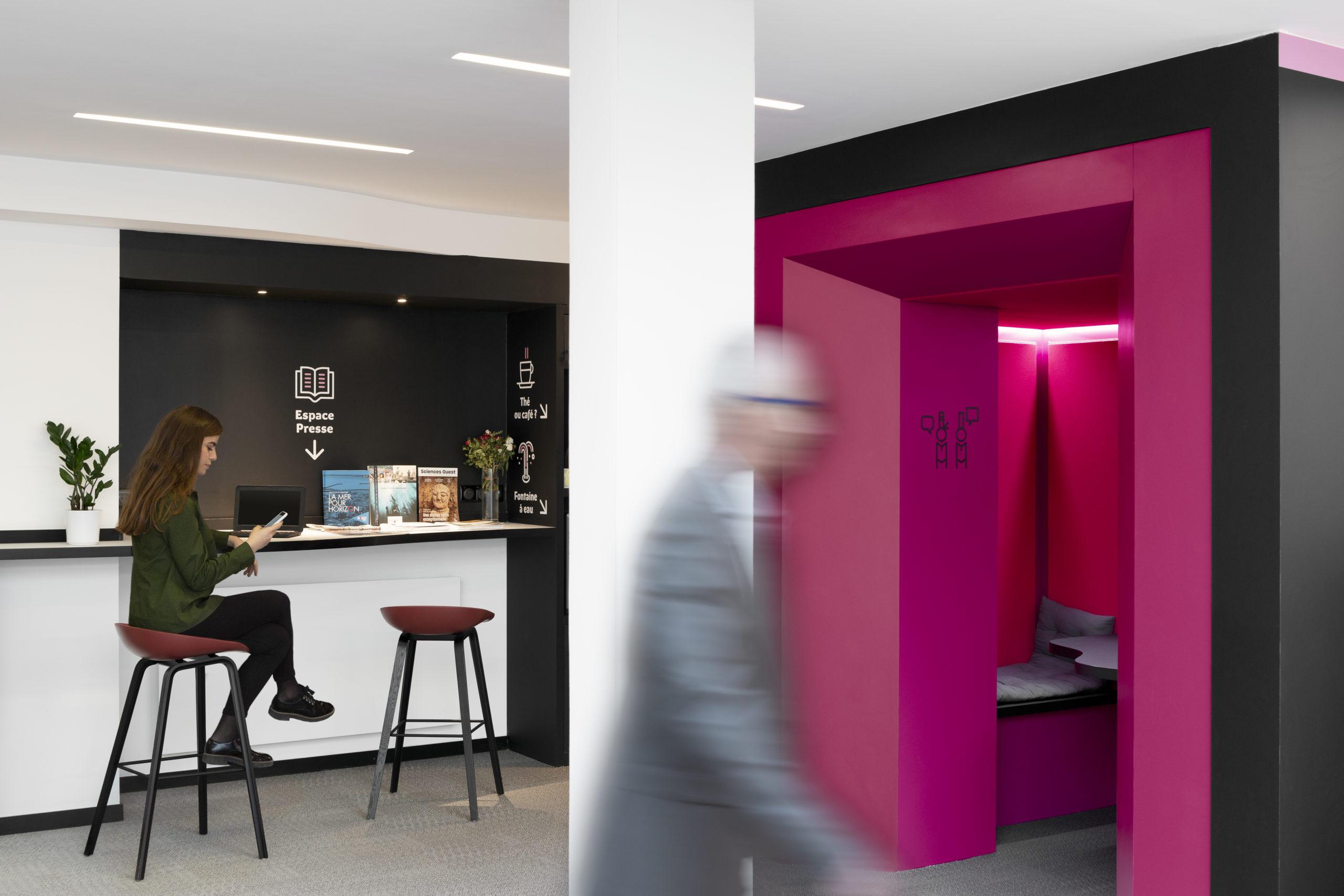 Box et espace presse Maison de la Bretagne à Paris