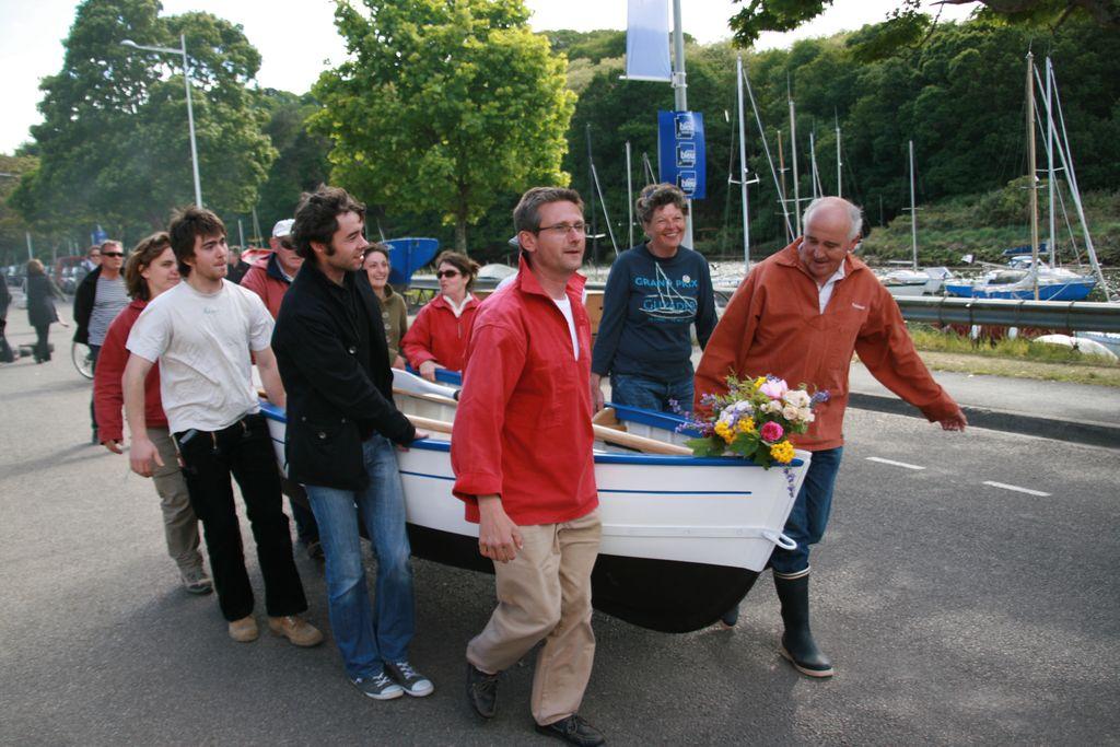 baptême d'une barque aux fêtes maritimes de Douarnenez