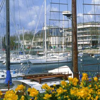 Vue du port de Lorient