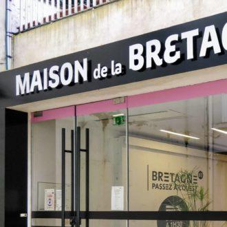 Façade de la Maison de la Bretagne à Paris
