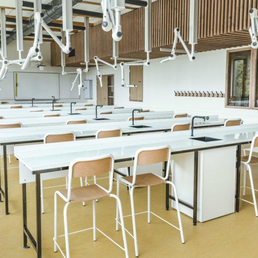 Salle de classe du lycée de Liffré