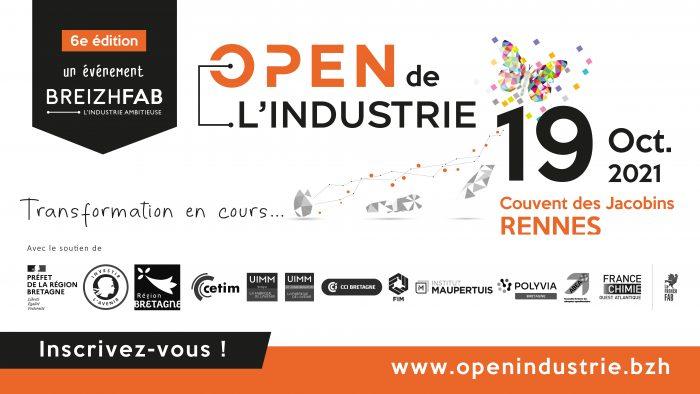 visuel de l'Open de l'industrie 2021