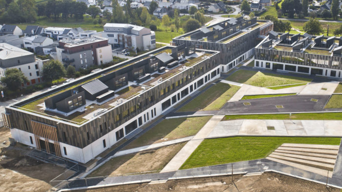 Vue de hauteur du lycée de Liffré