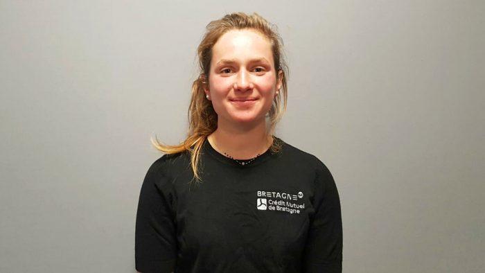 La première skipper Oceane de la filière excellence de la course au large Elodie Bonnefous