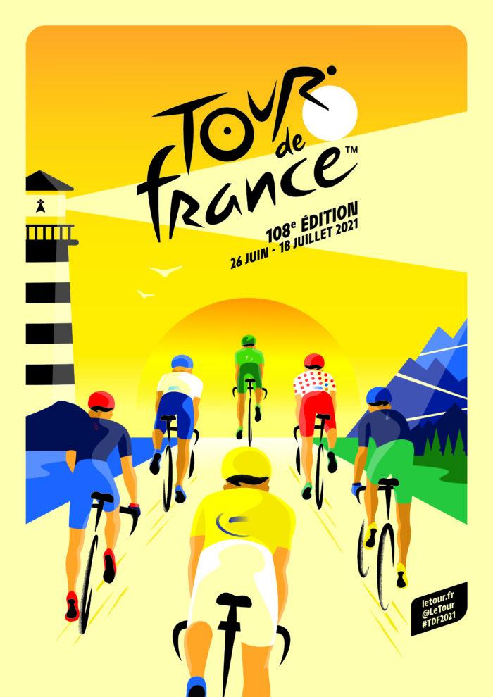 Visuel officiel du Tour de France 2021