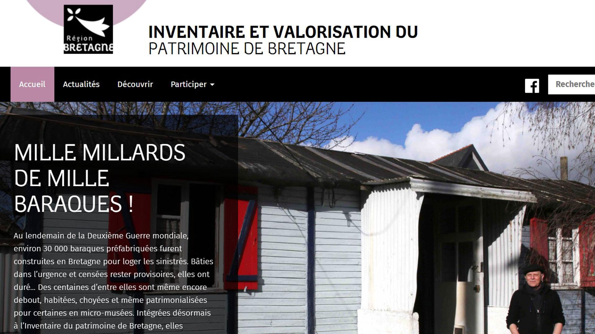 Capture home page bretagne;patrimoine.bzh