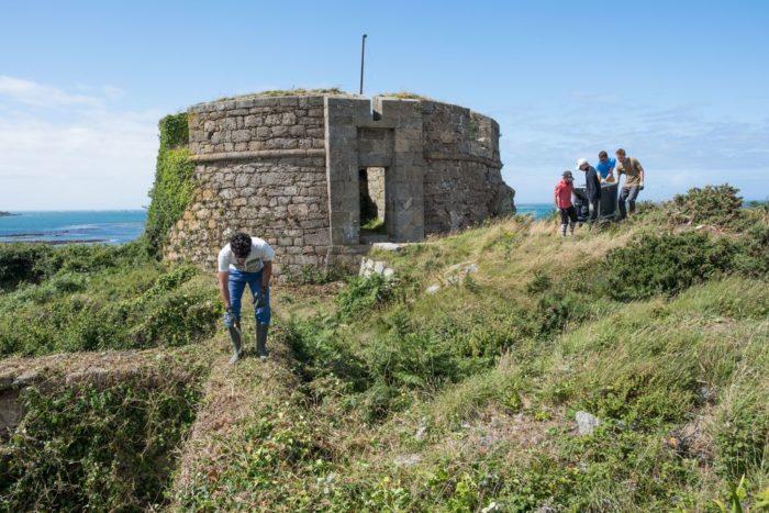 Débroussailler avant de restaurer (Fort Cézon)