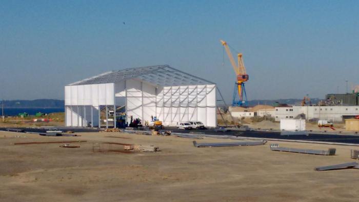 Navantia-Windar construit son atelier de fabrication sur le polder