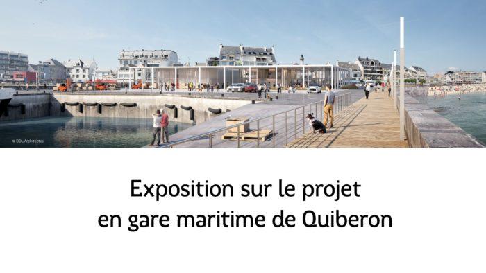 Panneau exposition gare maritime de Quiberon