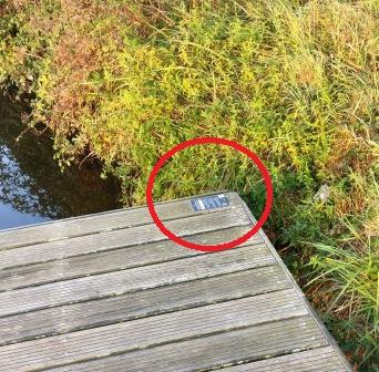 Localisation de la plaque sur un ponton
