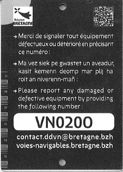 Plaque signalétique d'équipement