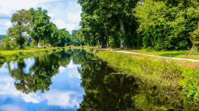 Le canal à Poulhibet, Mûr-de-Bretagne (22)