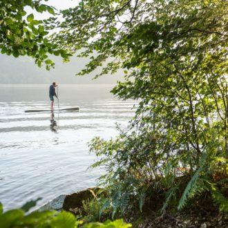 Paddle sur le lac de Guerlédan à Saint-Aignan (56)